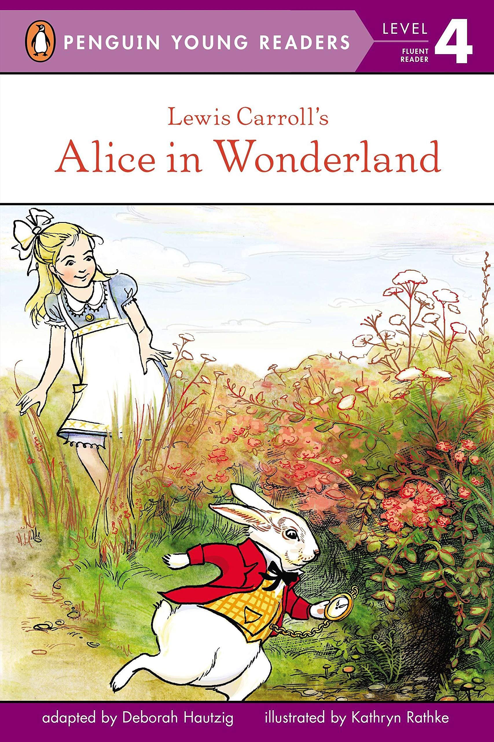 easy reader edition of Alice in Wonderland