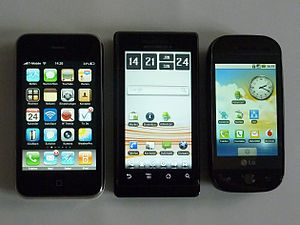 Apple iPhone 3GS, Motorola Milestone and LG GW60