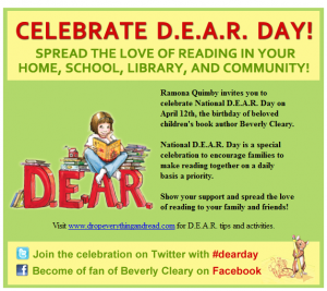 drop eveything and read day